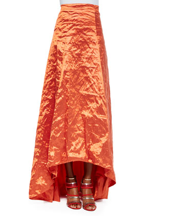High-Low Full Skirt, Tangerine