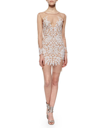 Luau Embroidered Mesh Dress