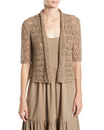 Tape Yarn Knit Cardigan, Women's