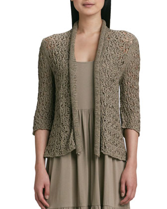 Tape Yarn Knit Cardigan