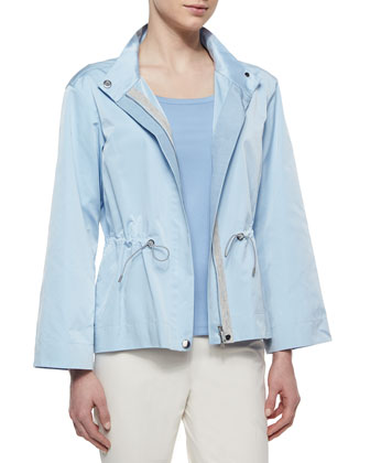 Finn Drawstring Topper Jacket, Cotton-Stretch Basic Tee & Stanton ...