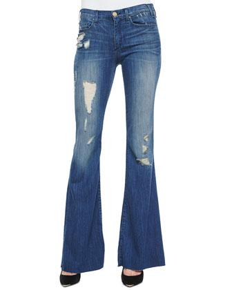 Majorelle Distressed Flare Jeans, Vintage Series 2