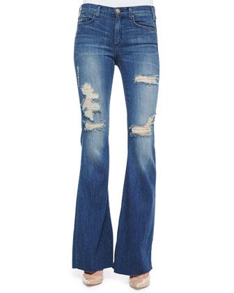 Majorelle Distressed Flare Jeans, Vintage Series 3