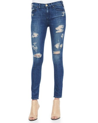 Newton Skinny Distressed Jeans, Vintage Dark