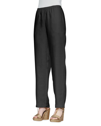 Straight-Leg Linen Pants, Women's