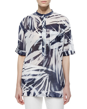 Cecilia Short-Sleeve Printed Blouse