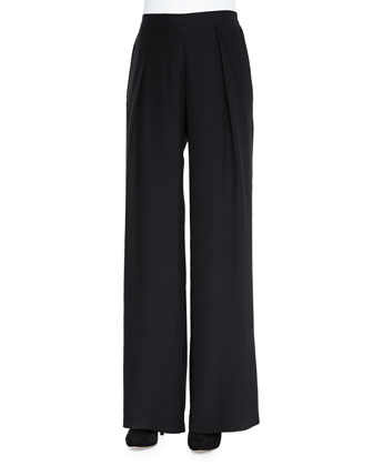Rocco Wide-Leg Silk Pants