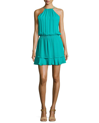 Nathan Silk Halter Dress, Laguna