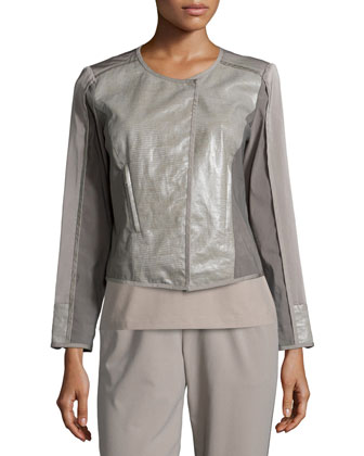 Vera Linen-Combo Jacket