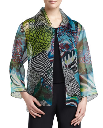 Patchwork Easy Shirt/Jacket, Women's
