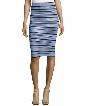 Wilhemina Striped Crop Top & Jayme Striped Pencil Skirt