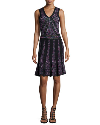 McKenzie Space-Dye Pleated Dress