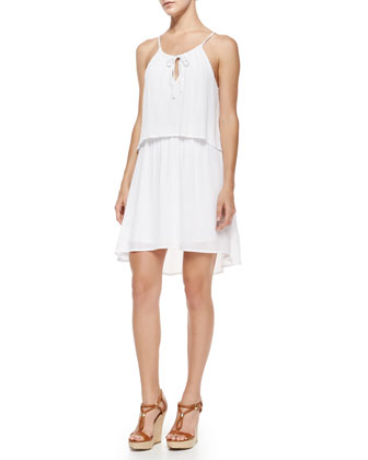 Tiered Woven Shift Dress