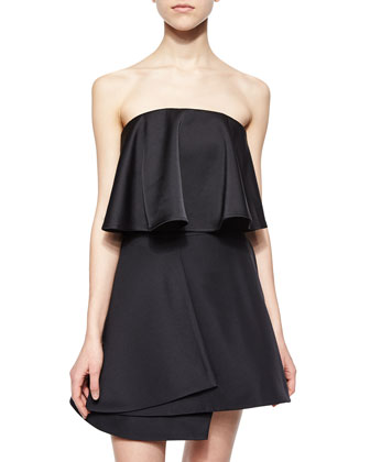 Headlines Strapless Flounced Bustier, Black