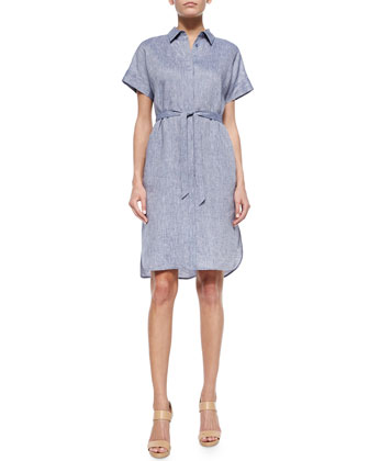 Yvonne Linen Shirtdress