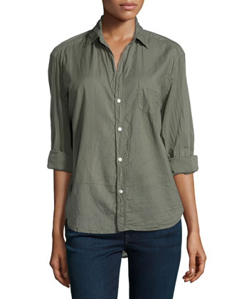 Eileen Cotton Blouse, Army Green
