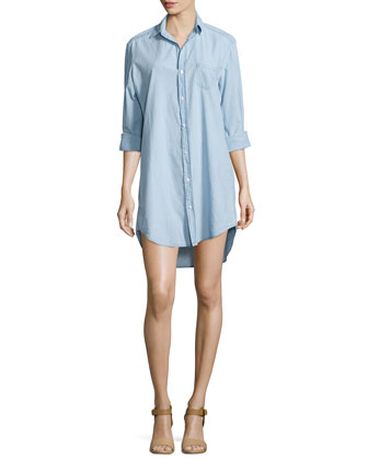 Mary Denim Shirtdress, Indigo
