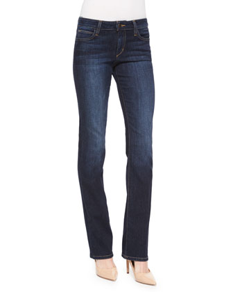 Honey Curvy Boot-Cut Faded Jeans, Rikki