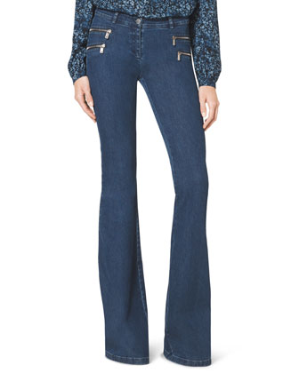Stretch-Denim Flared Jeans