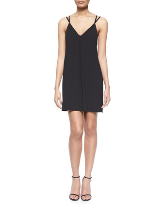 Angelica Long Vest & Lianne Cutout-Back Dress