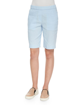 Koronee Sag Harbour Tonal-Striped Top & Thanella Bermuda Shorts