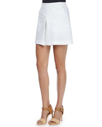 Shanilay Striped Knit Top & Taminara Linen-Blend Skort