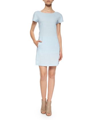 Jamelya Short-Sleeve Linen-Blend Dress