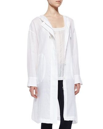 Arawn Sunny Linen Jacket & Centeria Embroidered Cotton Tank