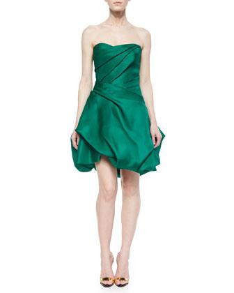 Strapless Draped Bubble Dress