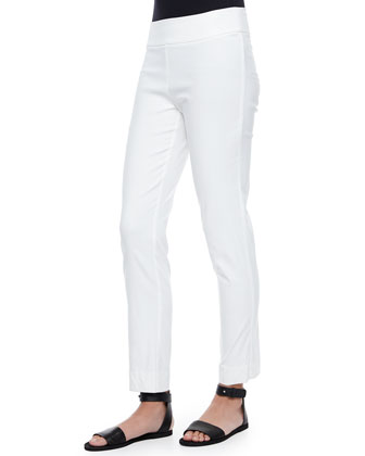 Ankle Slim Pants, White