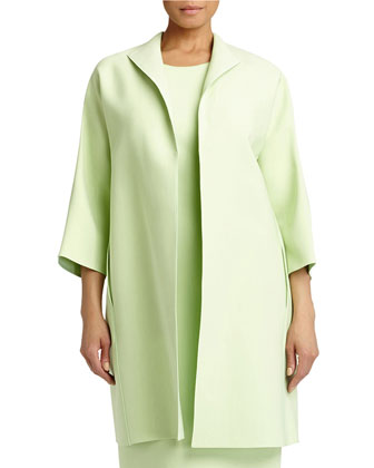 Mary 3/4-Sleeve Long Topper Jacket, Women's