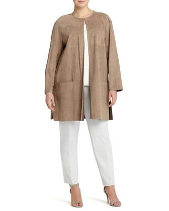 Tierney Lamb Suede Topper Jacket, Women's