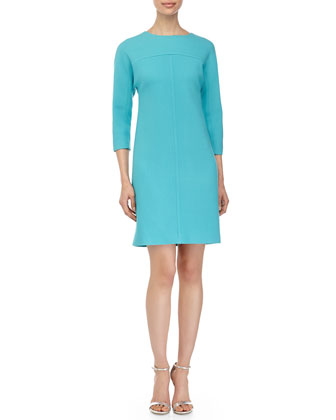T-Line Shift Dress, Aqua