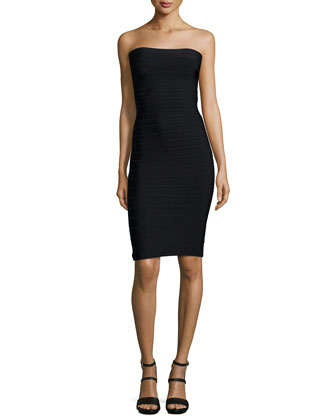 Fernanda Strapless Bandage Knit Cocktail Dress