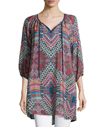 Jenny Geometric Printed Tunic, Women's
