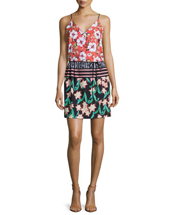 Floral Sunrise Printed Sheath Dress