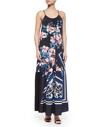 Modern Romance Printed Tiered Maxi Dress