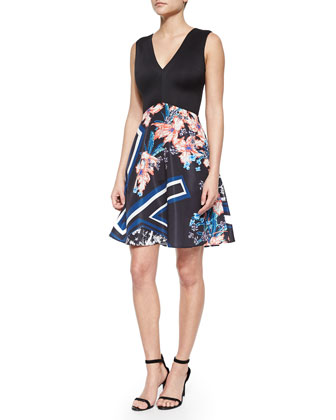 Modern Romance Solid/Printed Dress
