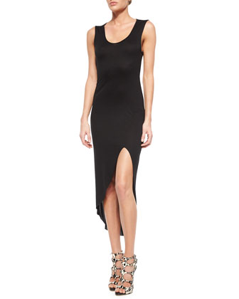 Modal Cutout-Back Tank Dress, Black