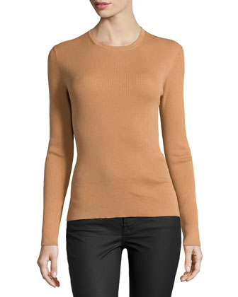 Long-Sleeve Top, Suntan