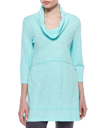 Under-the-Sun Cowl-Neck Tunic