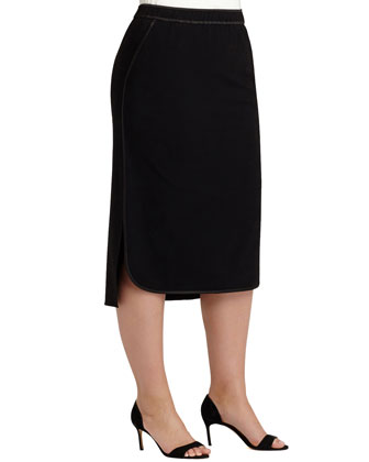 Iris Crepe Skirt W/ Piping, Women's