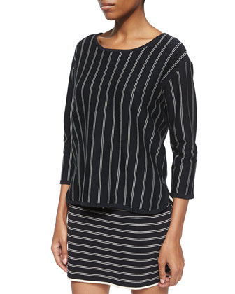 Regan 3/4-Sleeve-Sleeve Pullover