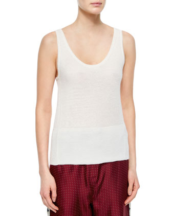 Donnie Long Button-Front Vest, Whitney Cashmere Tank & Rudy Drawstring ...
