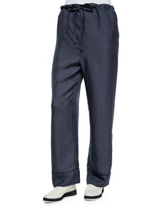 Belmar One-Button Micro-Dot Blazer & Gabrielle Micro-Dot Pants