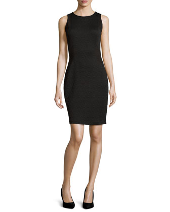 Knit Sheath Dress, Black