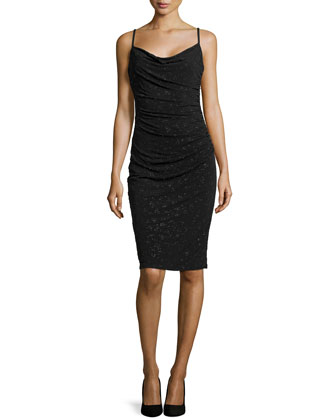 Metallic Caviar Dress, Black