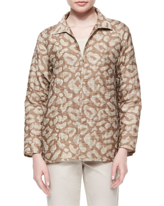 Zineb Animal-Print Topper Jacket
