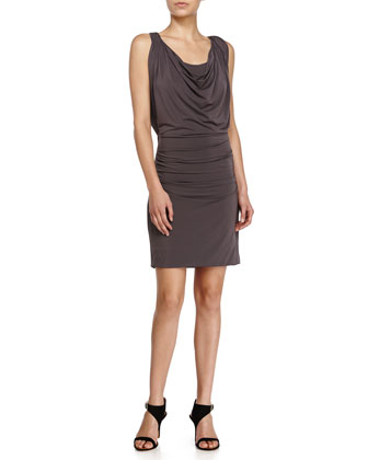 Sleeveless Cowl-Neck Dress, Lead