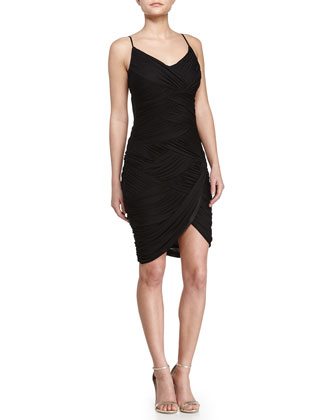 Wrap Cocktail Dress, Black